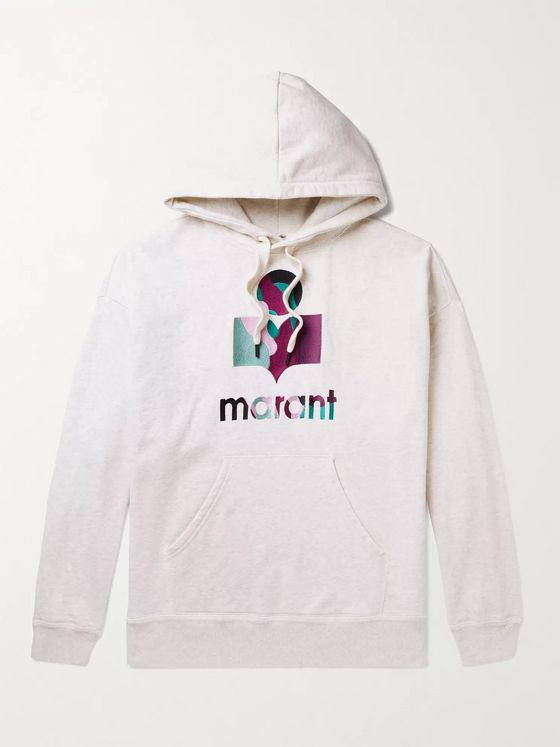 ISABEL MARANT Miley Logo-Embroidered Cotton-Blend Jersey Hoodie