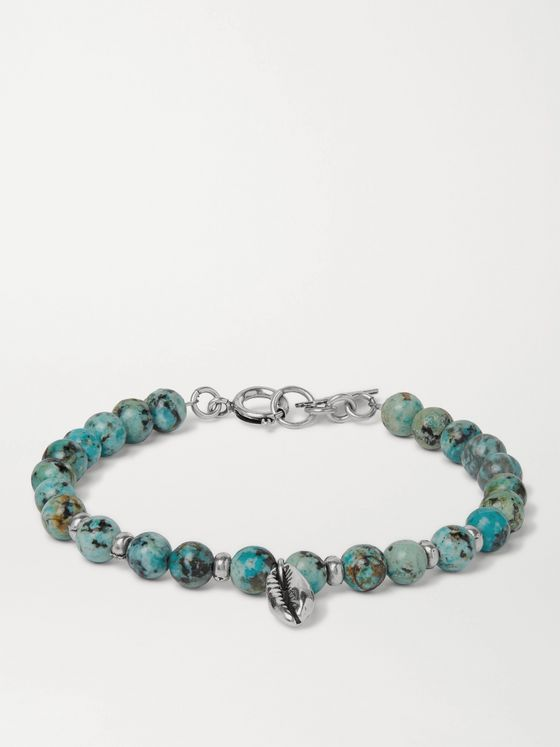 ISABEL MARANT Mr Grigri Stone and Silver-Tone Beaded Bracelet