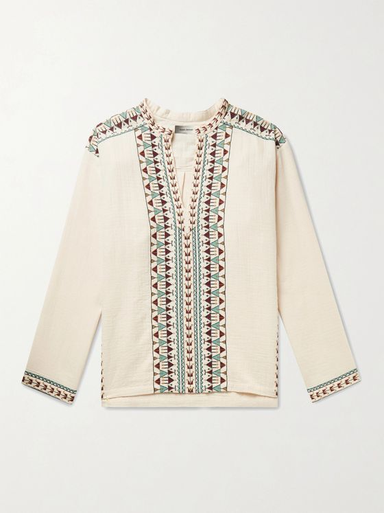 ISABEL MARANT Ikariah Embroidered Cotton Shirt
