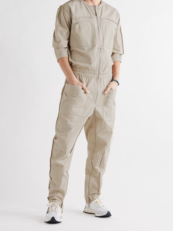 ISABEL MARANT Trevor Cotton-Twill Jumpsuit