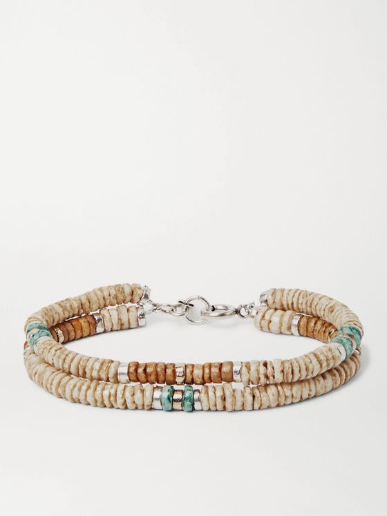 ISABEL MARANT Moises Shell, Gold- and Silver-Tone Bracelet