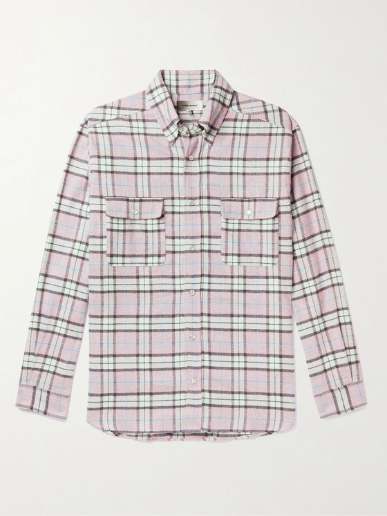 ISABEL MARANT Layolh Checked Cotton-Flannel Shirt