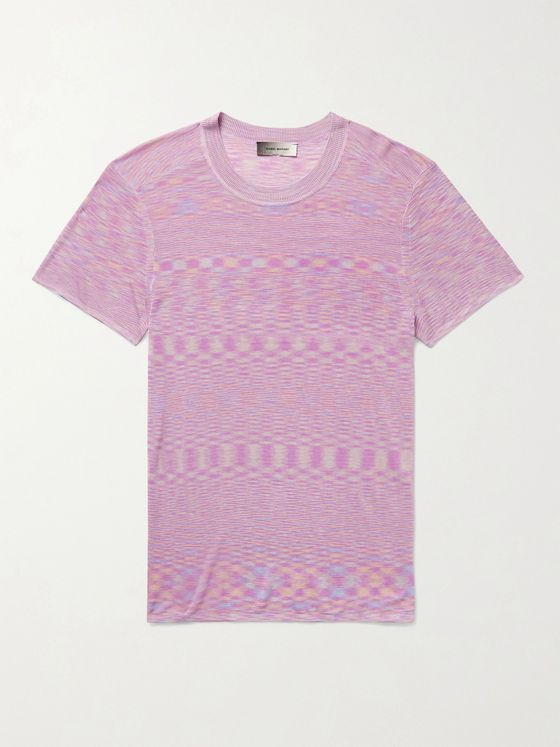 ISABEL MARANT Achille Space-Dyed Stretch-Knit T-Shirt