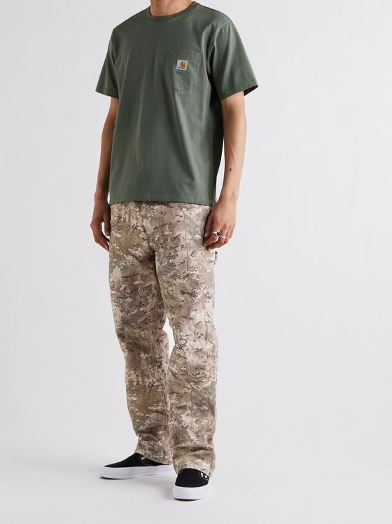 CARHARTT WIP Camouflage-Print Organic Cotton-Canvas Trousers