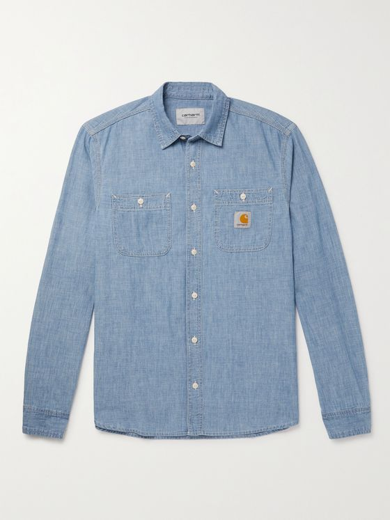 CARHARTT WIP Clink Bleached Cotton-Chambray Shirt