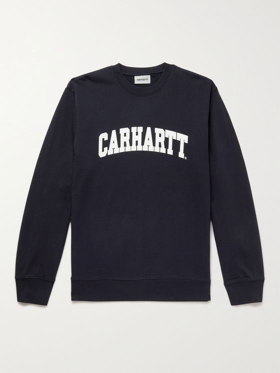 CARHARTT WIP University Slim-Fit Logo-Print Cotton-Jersey Sweatshirt