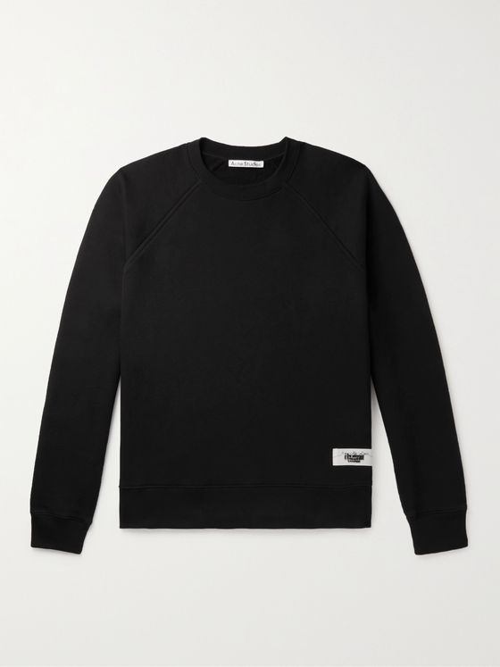 ACNE STUDIOS Logo-Appliquéd Cotton-Blend Jersey Sweatshirt