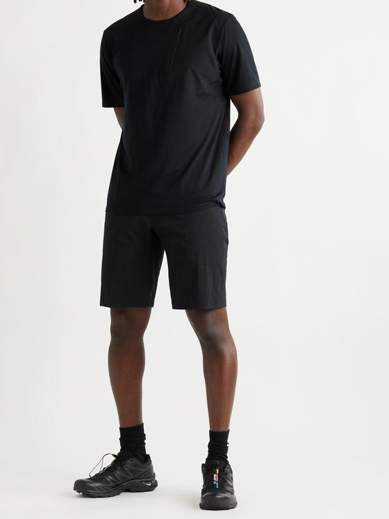 VEILANCE Frame Merino Wool-Blend Jersey and Stretch-Nylon T-Shirt