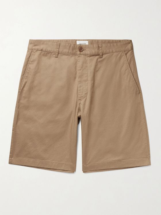 Wood Wood Jonathan Stretch-Cotton Twill Shorts