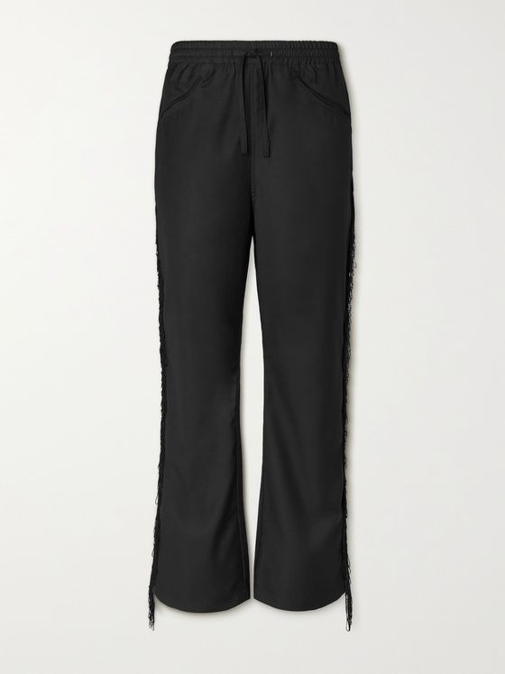 Needles Fringed Gabardine Drawstring Trousers