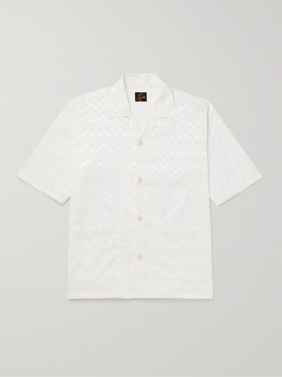 Needles Cabana Camp-Collar Cotton-Jacquard Shirt