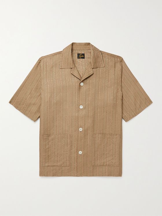 Needles Cabana Camp-Collar Paisley Jacquard Shirt