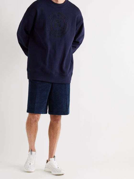 ACNE STUDIOS Ross Wide-Leg Cotton-Blend Corduroy Shorts