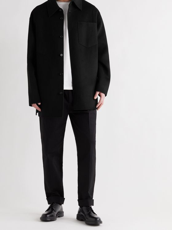 ACNE STUDIOS Domen Oversized Double-Faced Wool Overshirt