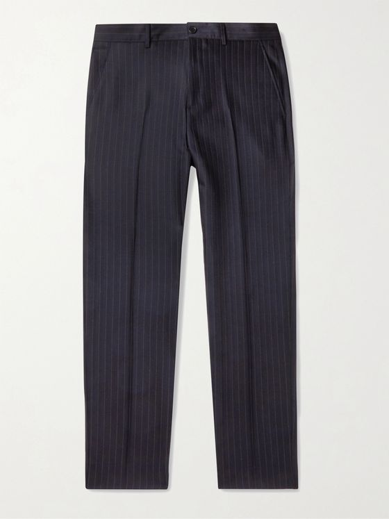 ACNE STUDIOS Jellica Pinstriped Wool-Blend Trousers