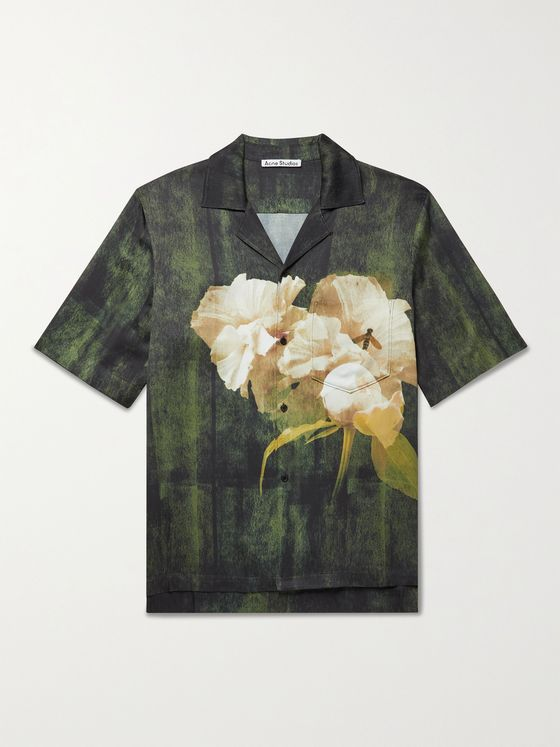 ACNE STUDIOS Simon Camp-Collar Floral-Print Woven Shirt