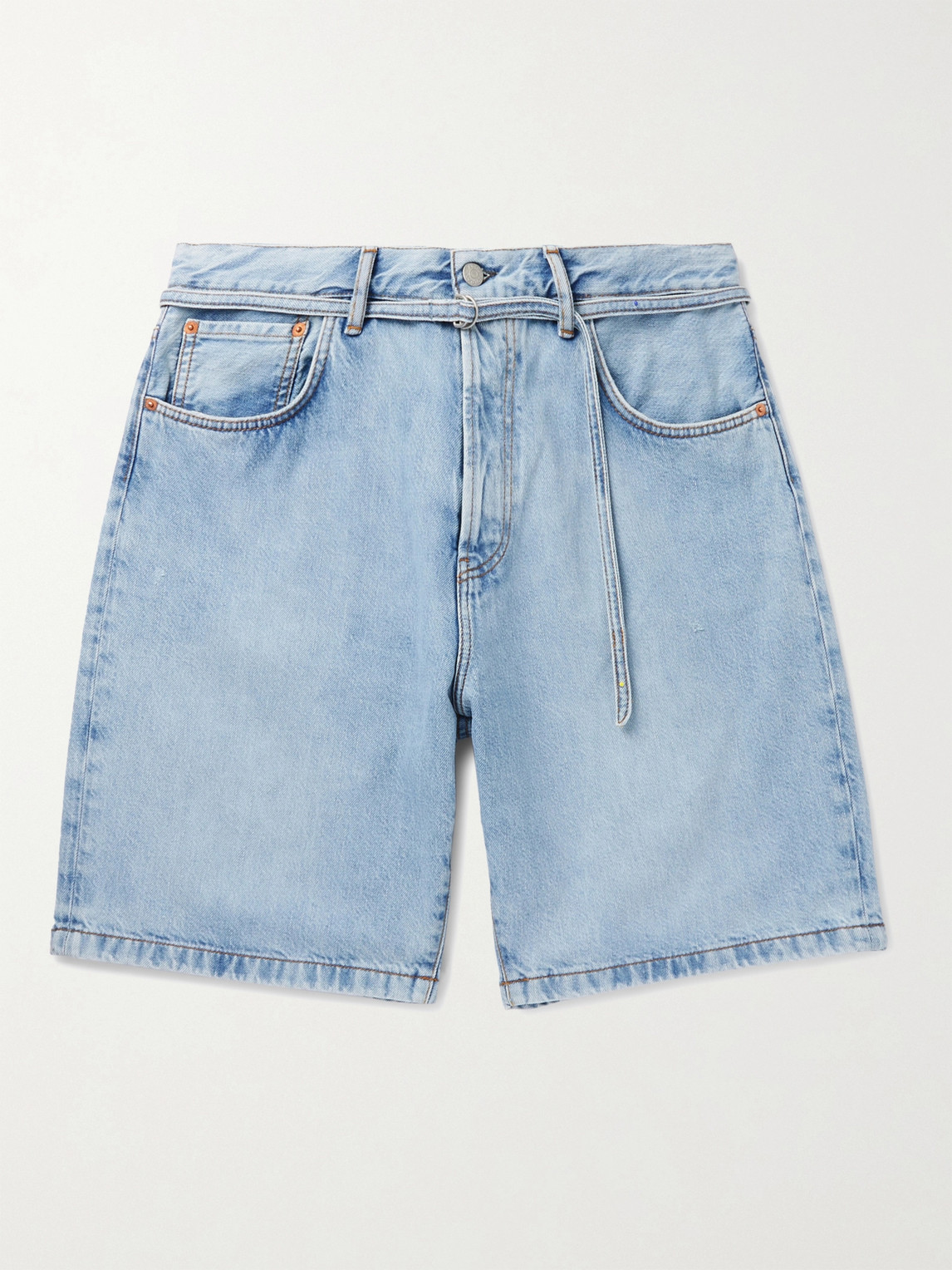 Acne Studios ROLAND BELTED DENIM SHORTS