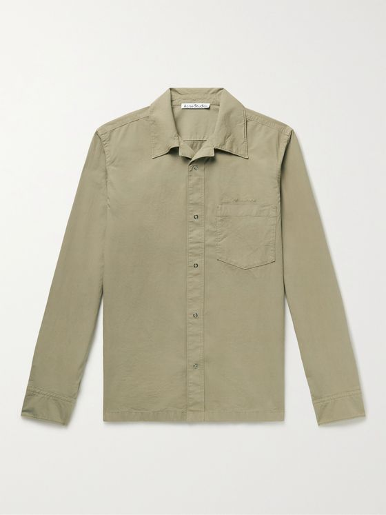 ACNE STUDIOS Denver Camp-Collar Cotton-Poplin Shirt