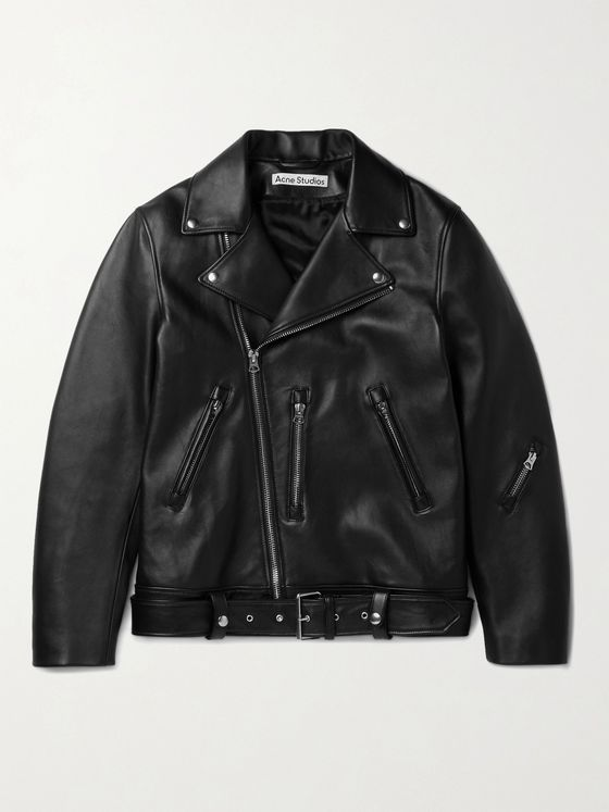 ACNE STUDIOS Nate Belted Leather Biker Jacket
