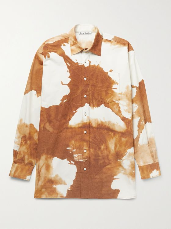 ACNE STUDIOS Atlent Oversized Tie-Dyed Stretch-Cotton Poplin Shirt