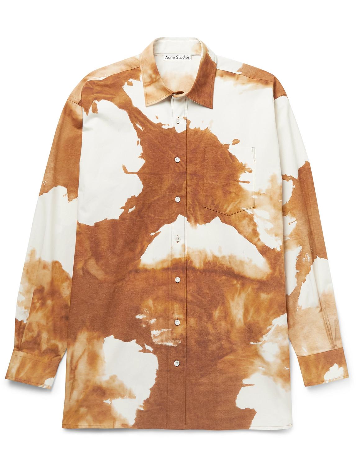 Acne Studios Clothing ATLENT OVERSIZED TIE-DYED STRETCH-COTTON POPLIN SHIRT