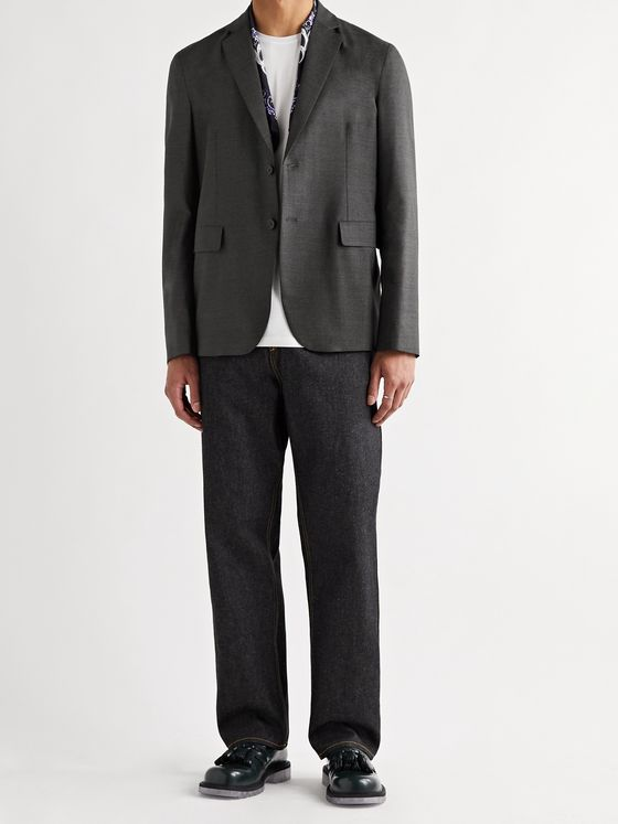 ACNE STUDIOS Antibes Slim-Fit Unstructured Wool Blazer