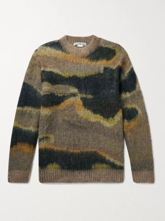 ACNE STUDIOS Klinac Brushed Jacquard-Knit Sweater