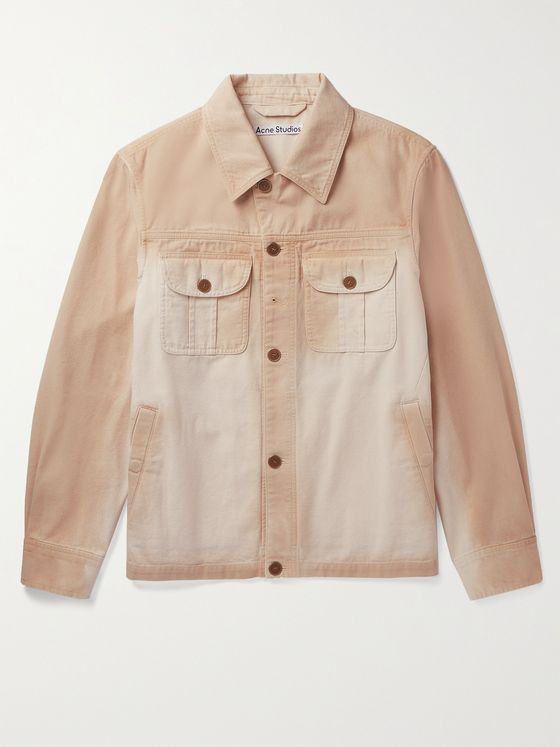 ACNE STUDIOS Omaro Bleached Cotton-Canvas Jacket