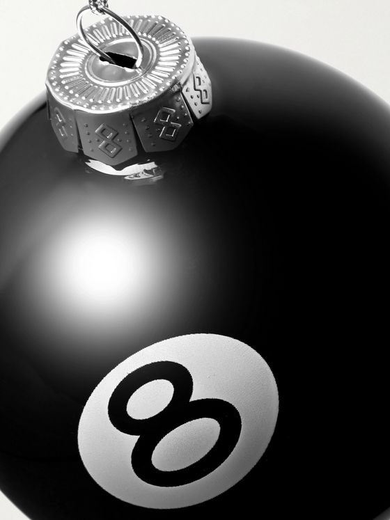 Stüssy 8 Ball Logo-Print Glass Bauble