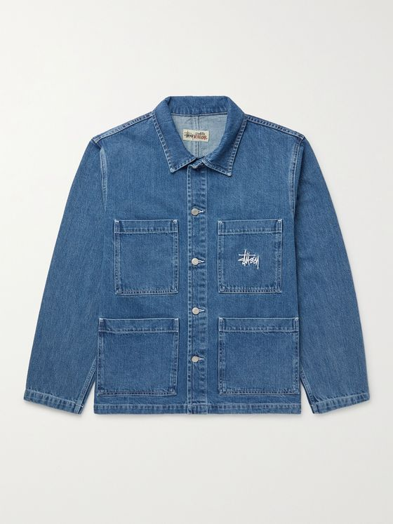 STÜSSY Logo-Embroidered Denim Chore Jacket