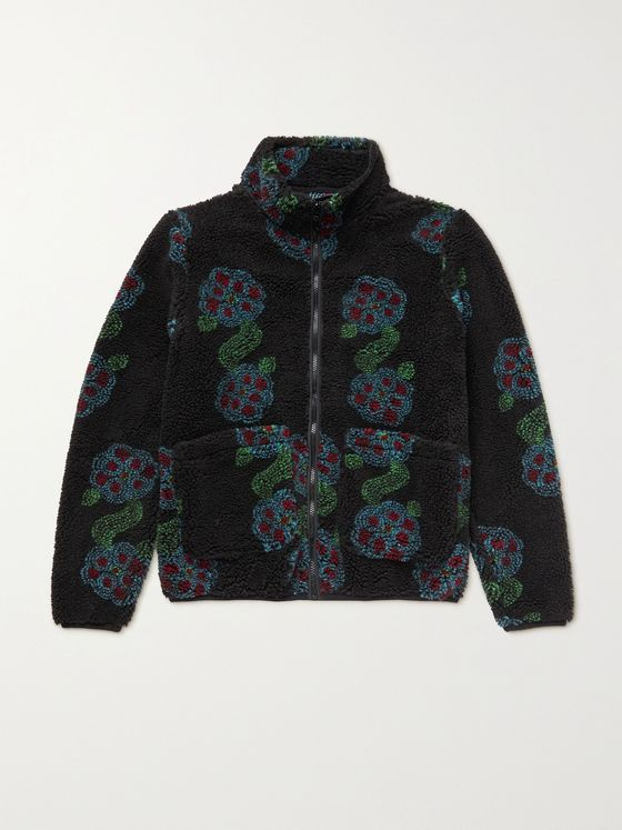 STÜSSY Fleece-Jacquard Jacket