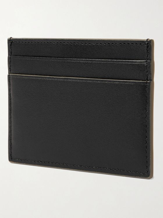 BRIONI Logo-Debossed Leather Cardholder
