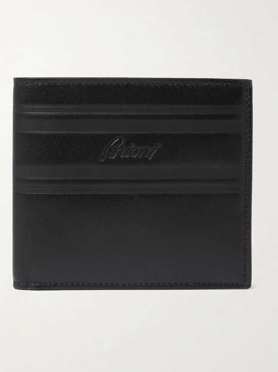 BRIONI Logo-Debossed Leather Wallet