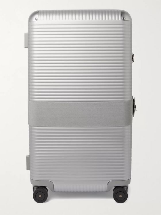 FPM Milano Bank 93cm Leather-Trimmed Polycarbonate Suitcase