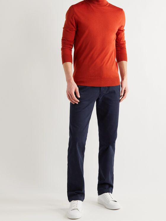 MR P. Slim-Fit Stretch-Cotton Twill Chinos