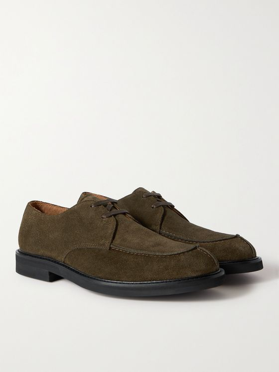 MR P. Andrew Split-Toe Suede Derby Shoes