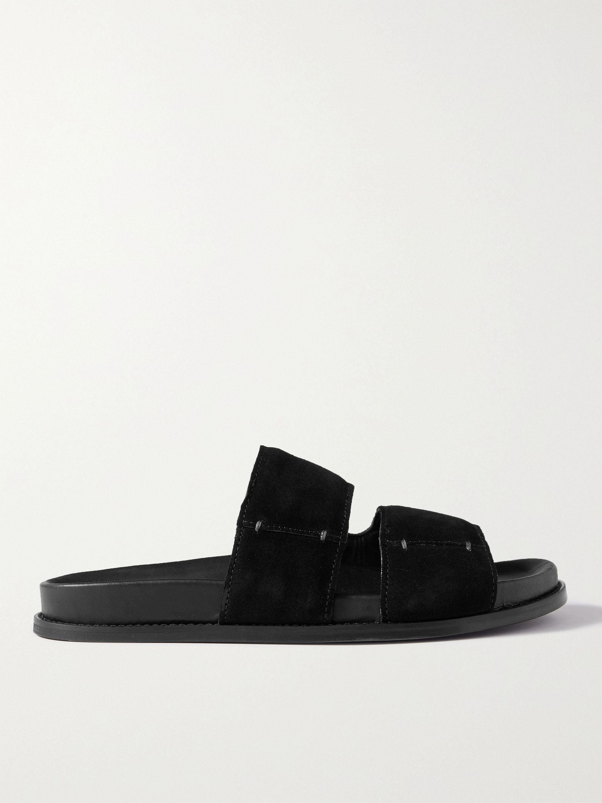 MR P. David Suede Sandals,Black