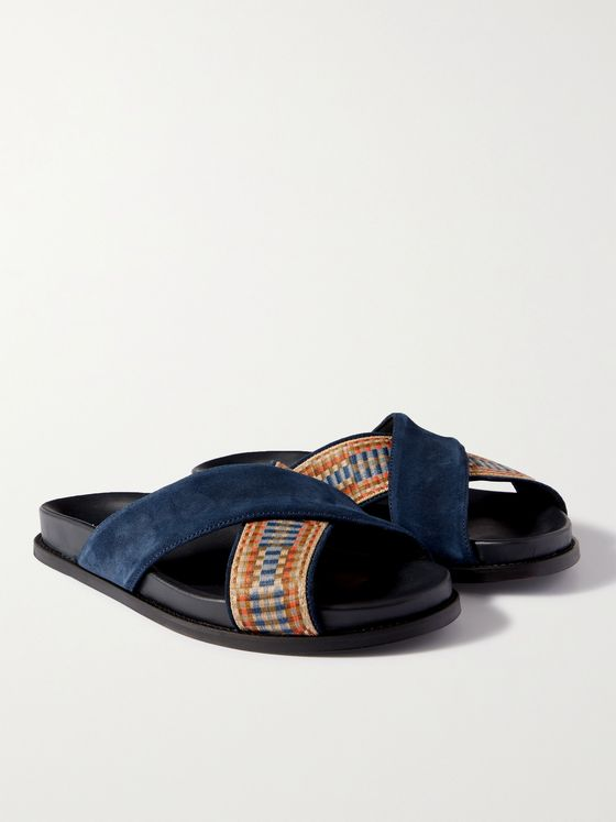MR P. David Suede and Webbing Sandals