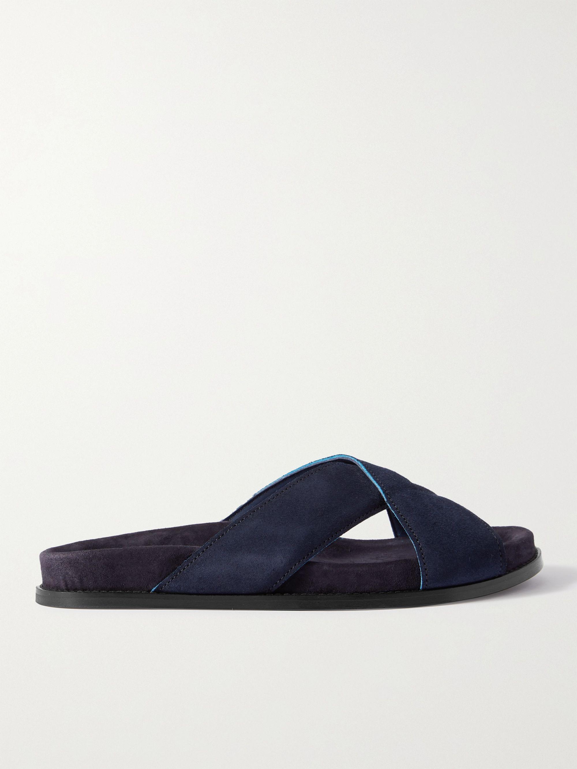MR P. David Suede Sandals,Blue