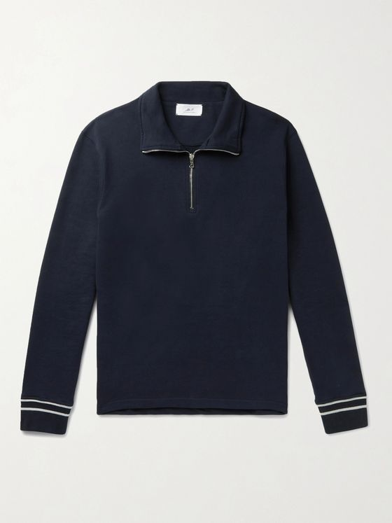 MR P. Cotton-Jersey Half-Zip Sweatshirt