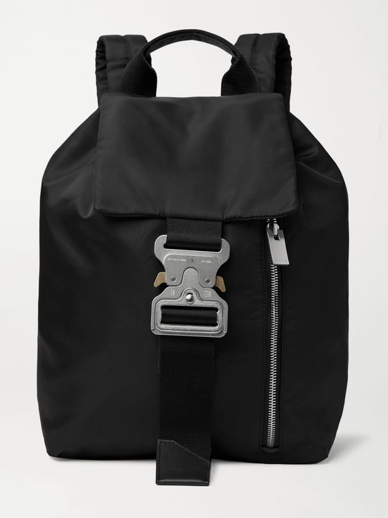 1017 ALYX 9SM Tank Leather-Trimmed Nylon Backpack
