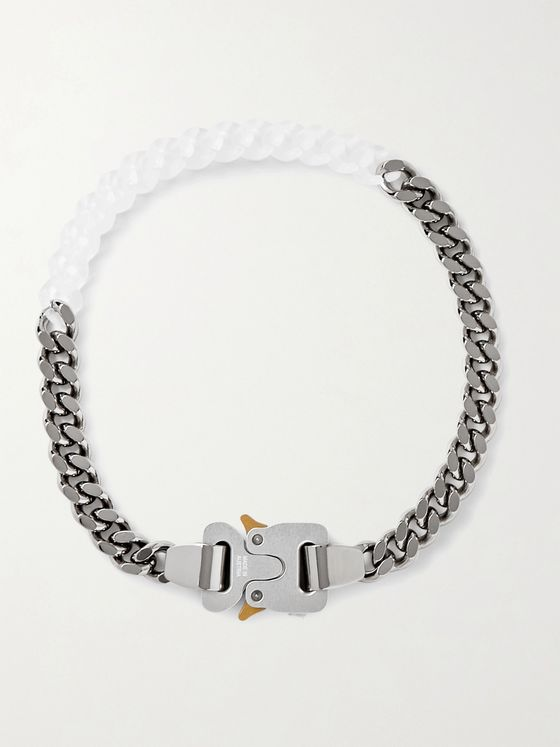 1017 ALYX 9SM Silver-Tone and Nylon Necklace