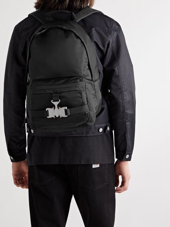 1017 ALYX 9SM Tricon Leather-Trimmed Nylon Backpack