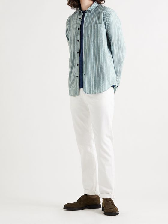 MR P. Striped Cotton Shirt