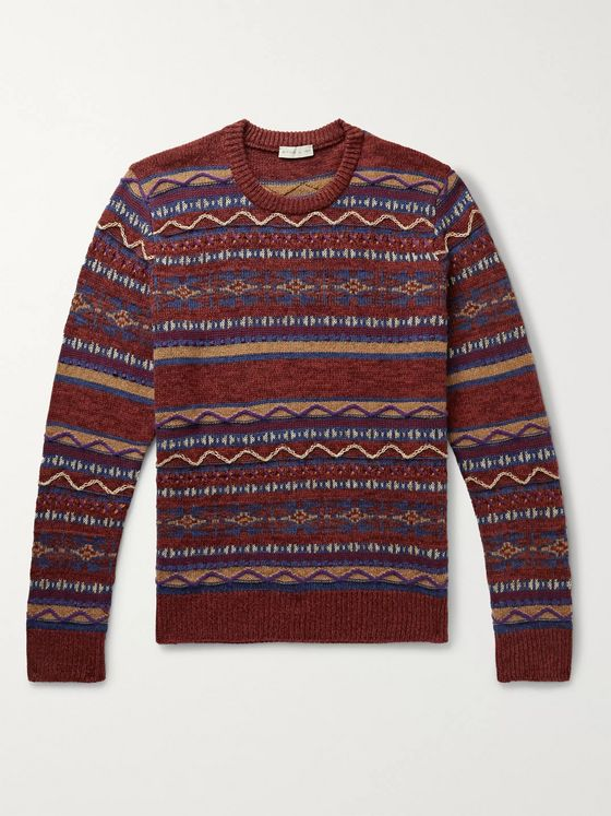 Etro Intarsia Wool-Blend Sweater