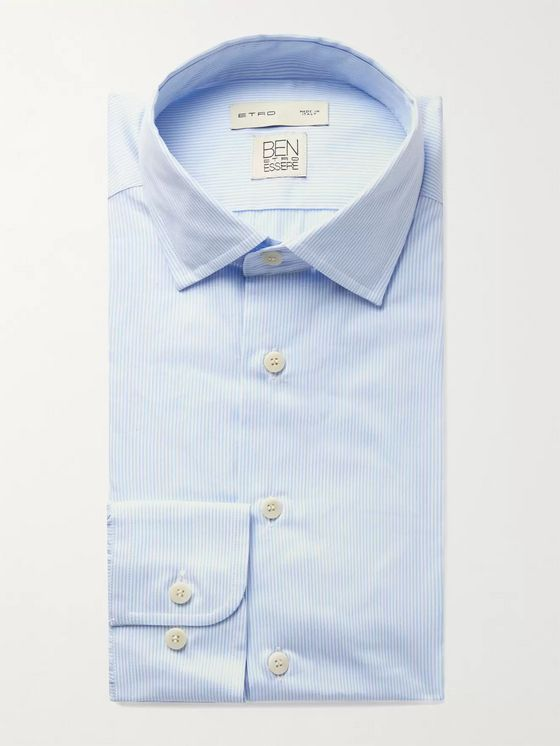 ETRO Striped Cotton and Lyocell-Blend Shirt