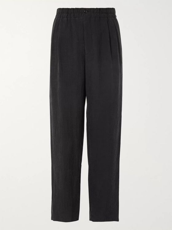 Giorgio Armani Tapered Matelassé Suit Trousers