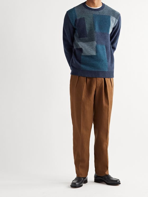 Etro Patchwork Wool Sweater