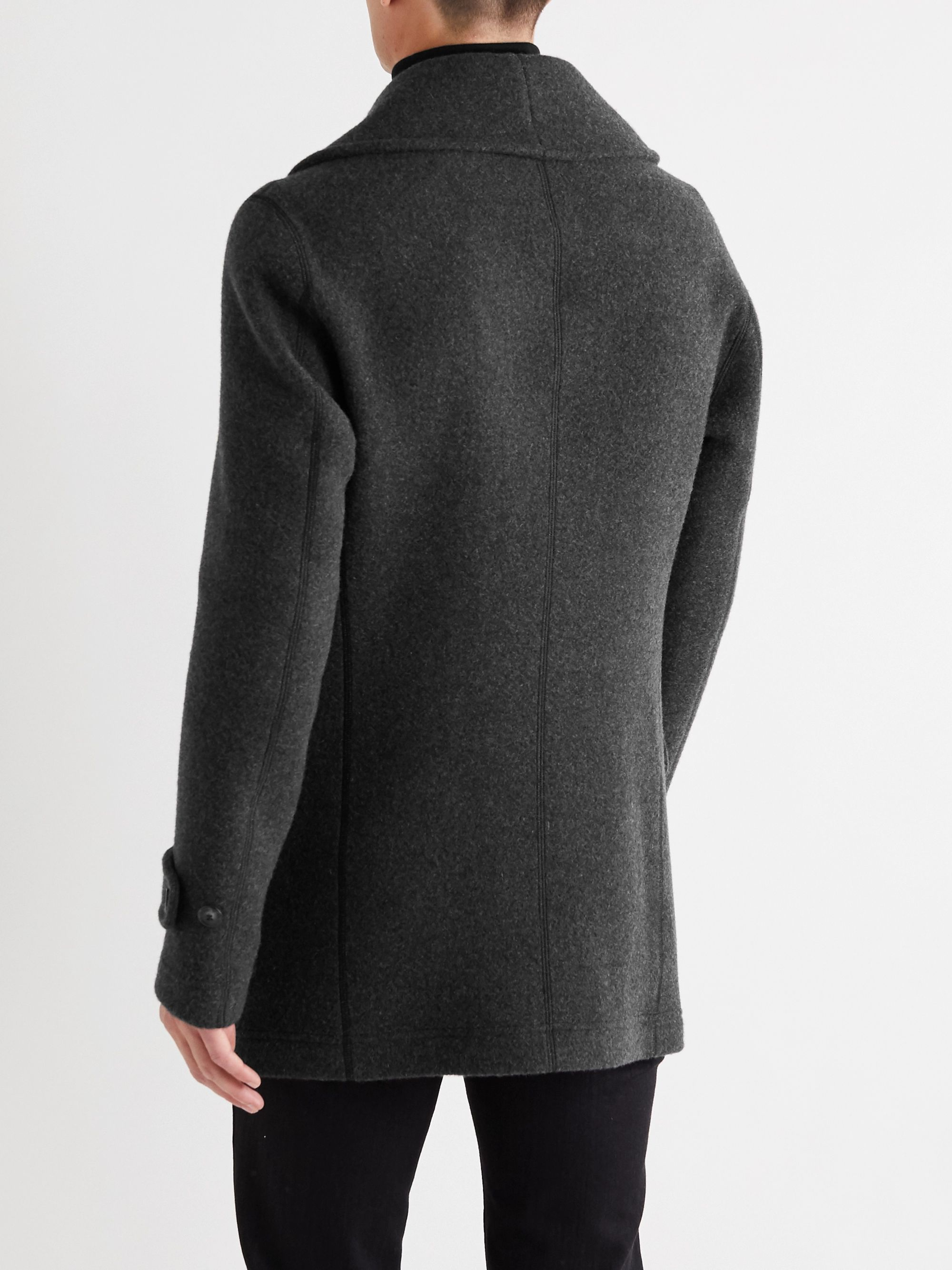 Giorgio Armani Double-Faced Cashmere Peacoat