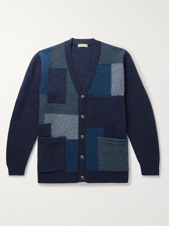 Etro Patchwork Wool Cardigan